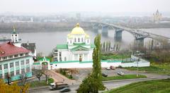 Alekseevskaya church of the annunciation monastery nizhny novgorod Stock Photos