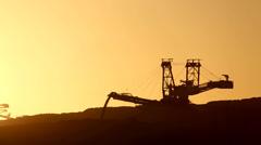 Digger, Coal mining Stock Footage