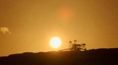 TIMELAPSE - Digger in Sunset, Open Coal mining Stock Footage
