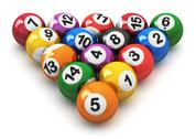 Stock Illustration of Set of color billiard balls
