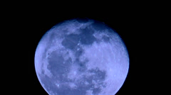 Rising Blue Moon Stock Footage