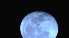 Slow Blue Moon Stock Footage