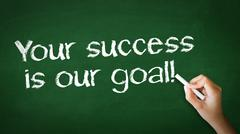 Stock Photo of your success is our goal chalk illustration