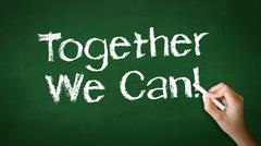 Together we can chalk illustration Stock Photos