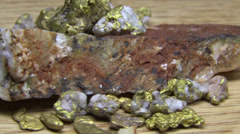 Gold nuggets, rotating Stock Footage