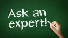 ask an expert chalk illustration - stock photo