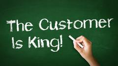 Stock Photo of customer is king chalk illustration