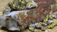 Gold nuggets, river gold Stock Footage