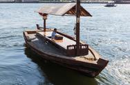 Stock Photo of traditional abra ferries in dubai,