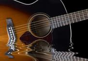 Stock Photo of acoustic guitar detail