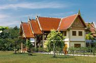 Stock Photo of buddhist temple in the south of thailand