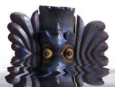 Uppoaminen maski Kuvituskuvat