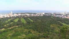 Hua Hin Golf Fields Panorama, Thailand Stock Footage