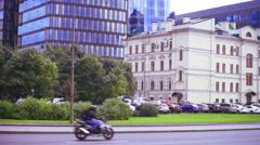 Modern  multistoried office building in Saint Petersburg Stock Footage