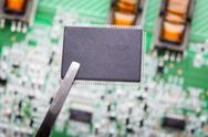 Stock Photo of micro chip