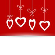valentine's card with hearts - stock illustration