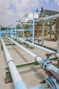 Pvc chemical pipe line Stock Photos