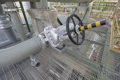 Big handle valve Stock Photos