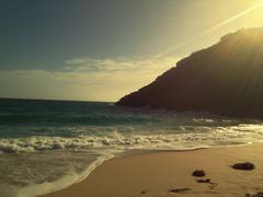 Porthcurno Beach  Sunset Stock Photos