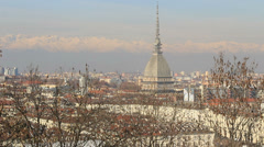 Looking down Mole Antonelliana in Turin, Italy Stock Footage