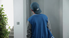 Elevator finally opens the door - stock footage