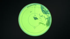 Radar scope tracking round Stock Footage