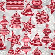 Stock Illustration of vector  bright seamless winter pattern