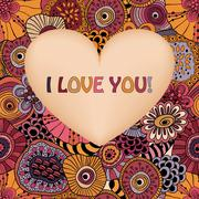 Stock Illustration of vector valentine's greeting card