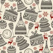 vector seamless holiday pattern - stock illustration