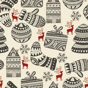 Stock Illustration of vector seamless winter pattern