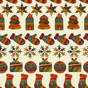Stock Illustration of vector seamless winter  christmas pattern