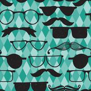Stock Illustration of vector seamless hipster pattern