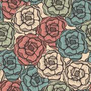 Stock Illustration of vector seamlesss floral pattern