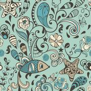 Vector seamless highly detailed abstract  pattern Stock Illustration