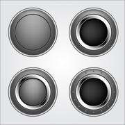 Stock Illustration of shiny metal button