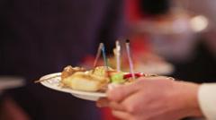 Waiter on Furshet Stock Footage