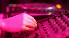 DJ booth - stock footage