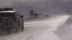 Cars driving through a whiteout. #8 - stock footage