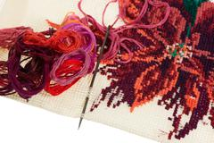 Skeins of colored threads for embroidery - mouline Stock Photos