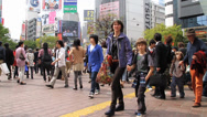 Stock Video Footage of Thick Crowd of people In Jpaan Shibuya Intersection 3
