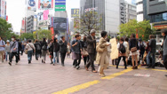 Stock Video Footage of Shibuya Crowd at Intersection 2