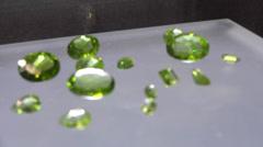 Green emrald gems Stock Footage