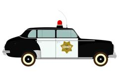 police car - stock illustration