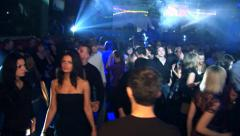 Girl dancing on the dance floor in the club. - stock footage