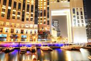 Stock Photo of dubai, uae - september 11: the night illumination of dubai marina on septembe
