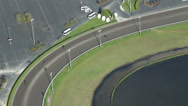 Stock Video Footage of Horse Raceway Track Corner - Aerial View
