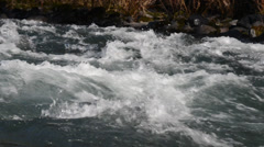 high def slow pan along the white water river - stock footage