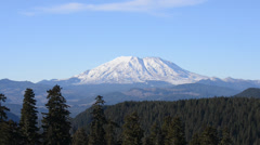 high def zoom on mount st. helens on a clear day - stock footage