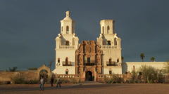 4K Mission San Xavier del Bac Stock Footage