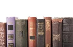 Old hardcover books Stock Photos